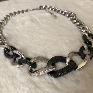 """Swarovski """"Bound"""" Crystal Pavé Chain Necklace"""